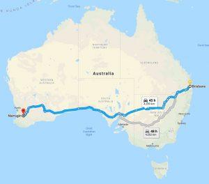 Brisbane to Narrogin